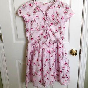 Pink Canary Button Up Dress   Lands' End   12